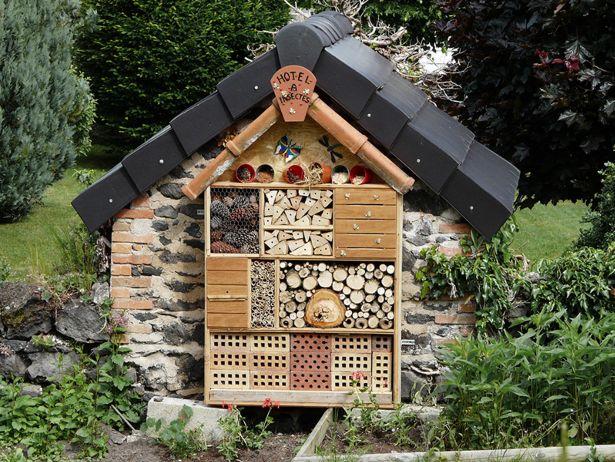 Un bug hotel per coccinelle, crisope, forbicine e vespe solitarie a guardia dell'orto. Perché ogni insetto ha il suo bug hotel preferito.