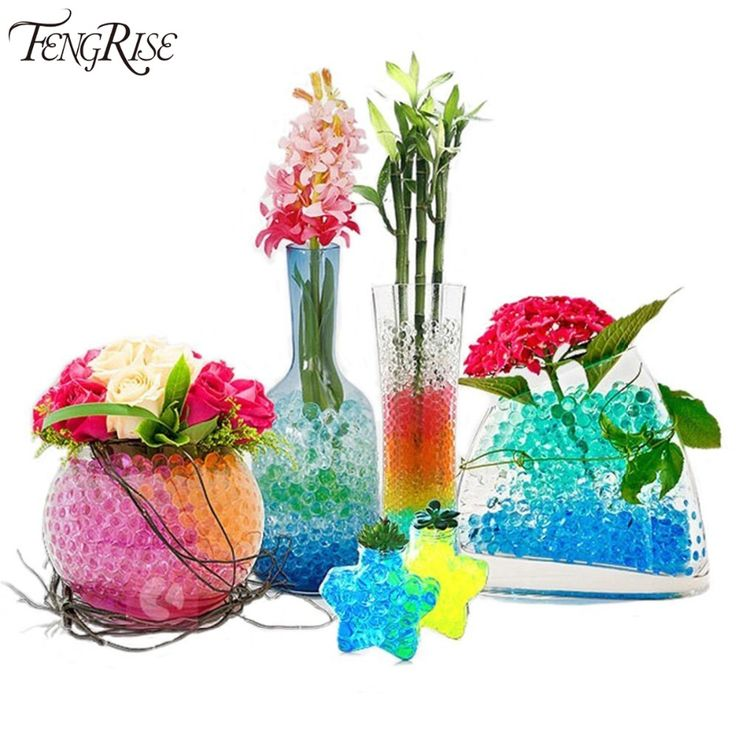 5bags 2500pcs Crystal Soil Water Beads Pearl Growing Jelly Balls Magic Bio Gel Hydrogel Vase Fillers Sodium Polyacrylate Polymer