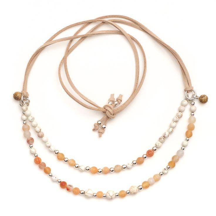xada jewellery - Beaded double strand Tangerine sunset necklace , $59.95 (http://www.xadajewellery.com/shop-by-collection/xada-beaded-double-strand-tangerine-sunset-necklace/)