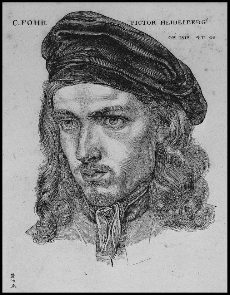 Samuel Amsler, Portrait of Carl Philipp Fohr, 1818