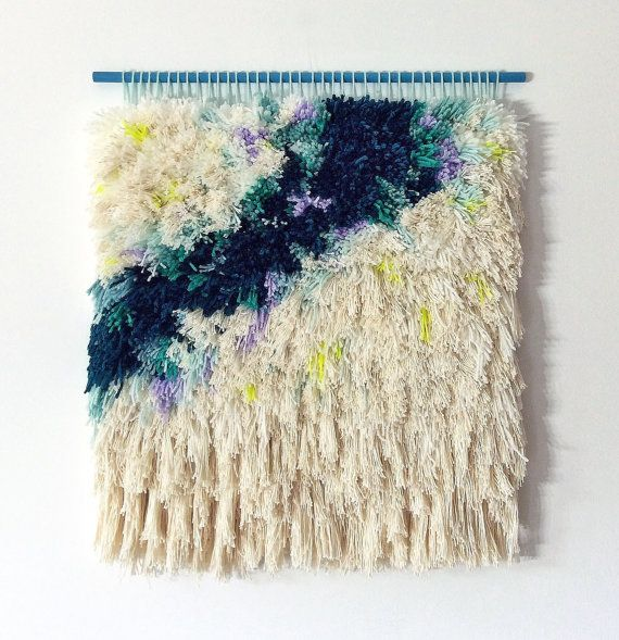 Furry Clouds // Handwoven Tapestry Wall hanging by jujujust