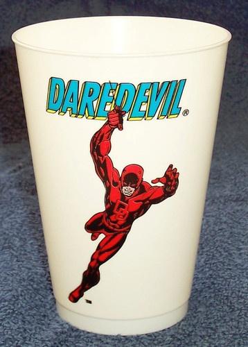 Vtg Daredevil 7 11 Slurpee Cup 1975 Series