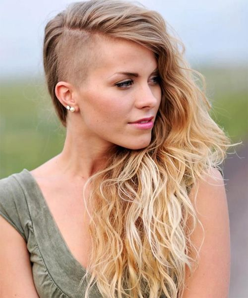 Hottest Half Shaved Long Hairstyles 2016