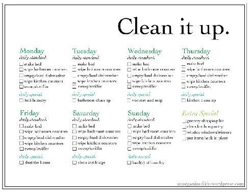 17 Best ideas about Weekly Chore List on Pinterest | Daily chore ...