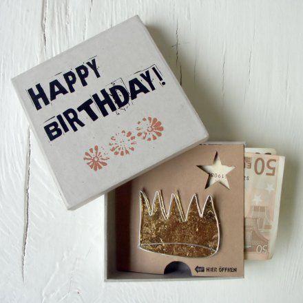 good old friends GmbH Geldgeschenkbox Happy Birthday