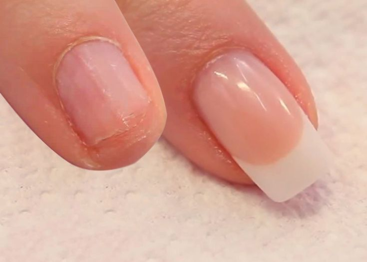 How To Ly Acrylic Nails On Short Bitten Tutorial Video By Naio