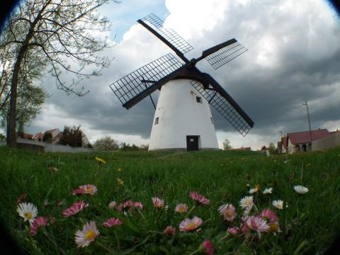 Windmill in Kiskundorozsma, Hungary