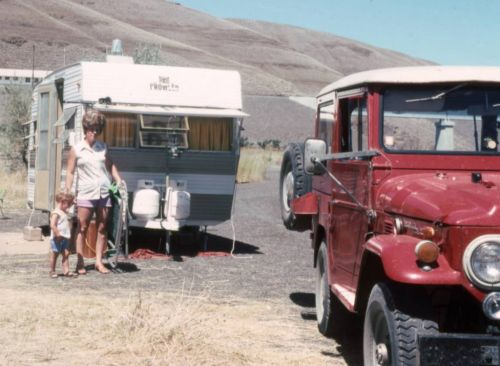 When big hair roamed the earth. Looking stylish even when camping.
