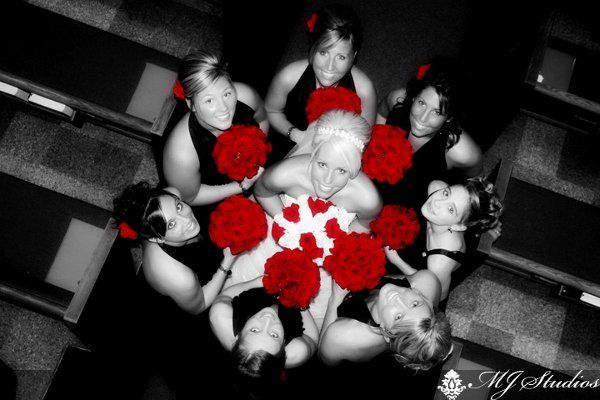 red fall flowers | Black Red White Bouquet Fall Spring Summer Winter Wedding Flowers ...