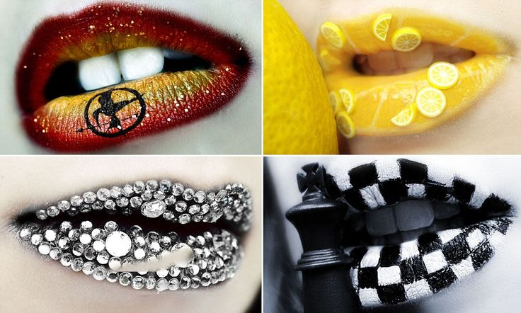 Eva Senin Pernas, 26, from La Coruña, Spain, painstakingly paints her own lips to create her stunning looks.