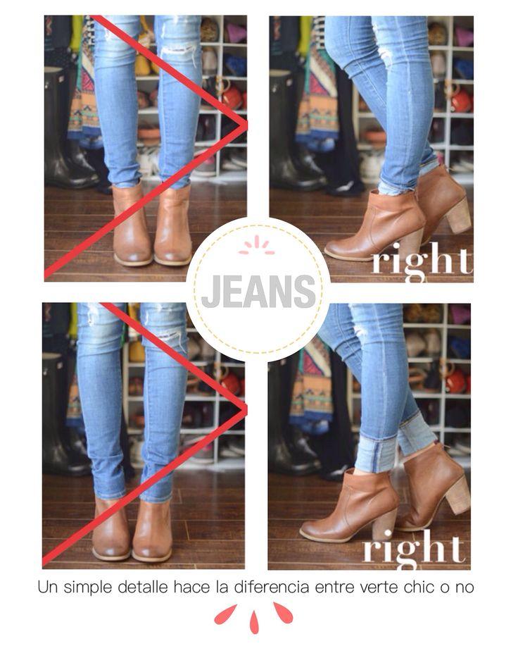 La forma correcta de llevar los jeans