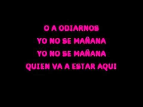 Karaoke - Yo no sé mañana (salsa) - Luis Enrique