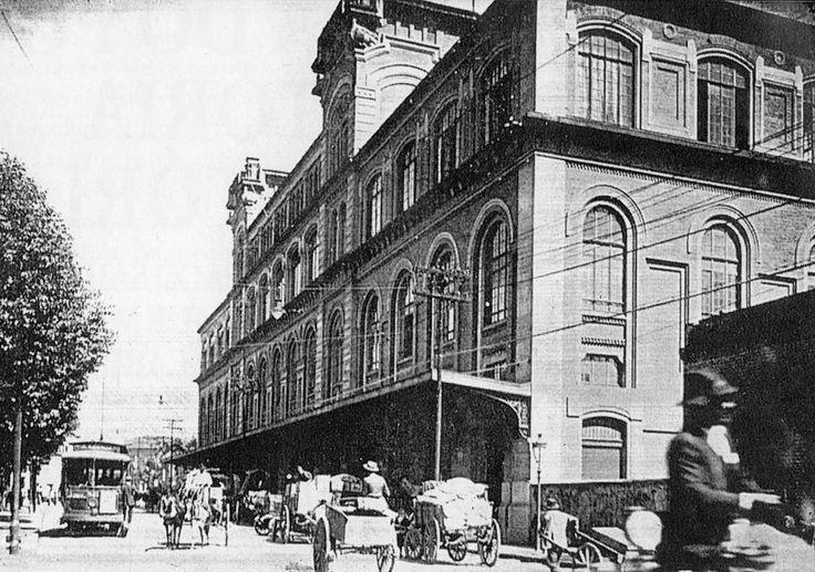 Segundo edifício da Sorocabana, cuja construção foi iniciada em 1914 para sediar os armazéns gerais e os escritórios administrativos da ferrovia, na região da Luz.