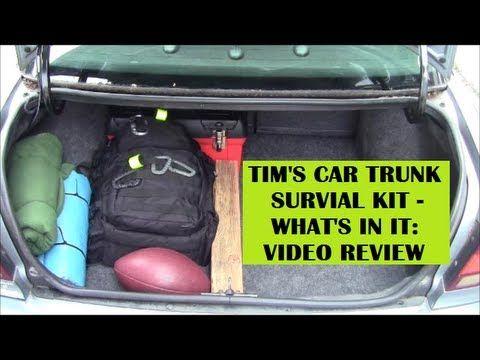 Car Survival Kit Emergency Trunk