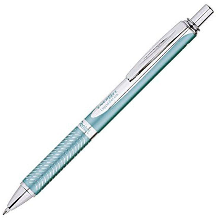 Pentel EnerGel Alloy RT Premium Liquid Gel Pen 0.7mm Aquamarine Barrel Black Ink #Pentel