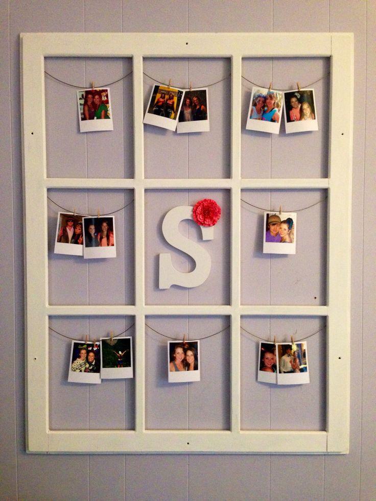 Old Window Quot Polaroid Quot Display House Ideas Polaroid