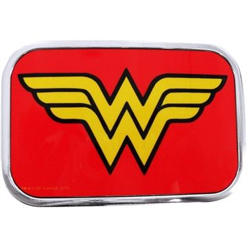 Wonder Woman Logo Rectangle Belt Buckle