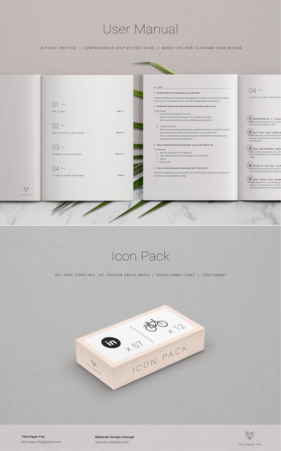 Resume Template 3page Creative Resume Cover by