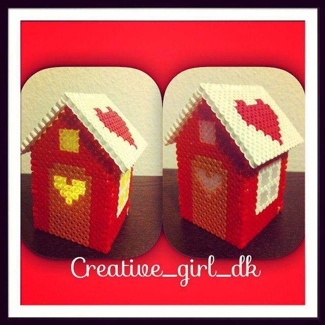 Christmas house hama  perler beads by creative_girl_dk