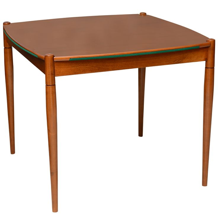An italian Modern Walnut Game Table by Gio Ponti for Singer & Sons | From a unique collection of antique and modern game tables at http://www.1stdibs.com/furniture/tables/game-tables/
