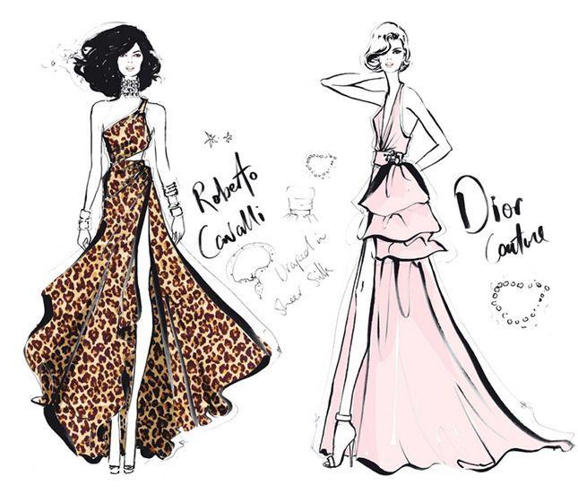 módní ilustrace - Hledat Googlem