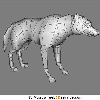 Giant Wolf 3d model