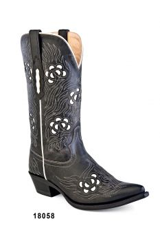 Botas de Senhora Texanas Cowboy Modelo 18058 Marca Old WestMarca: Old WestRef:18057Estilo: Botas Cowboy em peleCor: Preto e BrancoPerímetro do cano: 36 cmAltura do cano: 30 cmAltura tacão: 3,5 cmFabricação: Goodyear WeltedForro: Pele