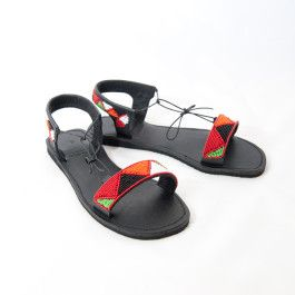 Hand Made African Wedding Ladies Beaded Sandal - http://facesofhope.co.za/product/hand-made-african-wedding-ladies-beaded-sandal/ #Beadedsandal #leather