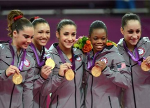 In the women's event the USA reigned supreme, dominating the team final and supplying gymnastics' first ever black individual Olympic gold-medalist in the form of 16-year-old Gabby Douglas...