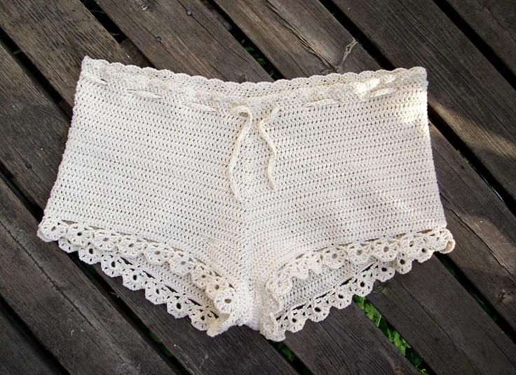 Mmatildas virkstad: Virkade shorts - nästan nästan exakt samma