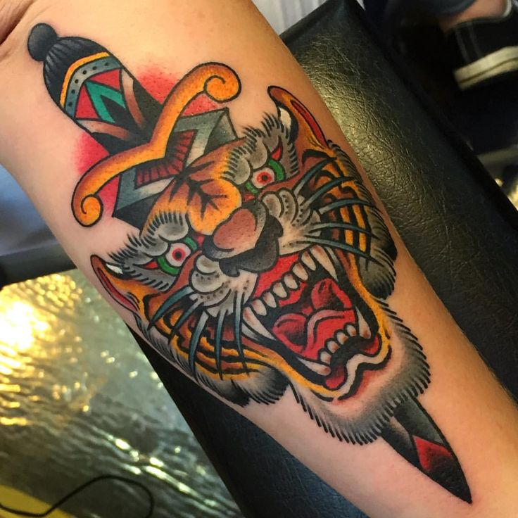 25  best ideas about traditional tiger tattoo on pinterest