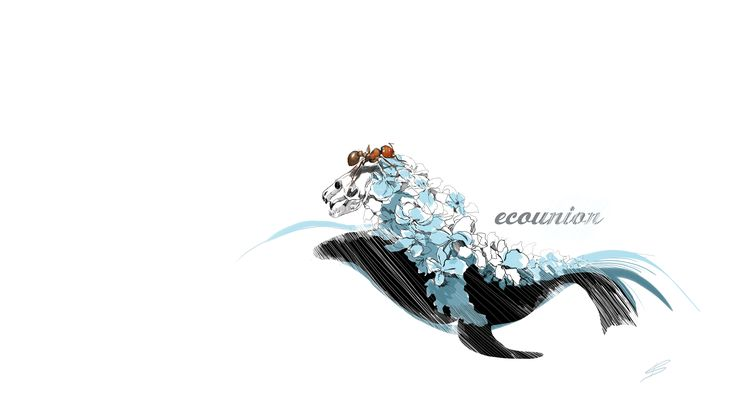 design social advertising protecting animals, ecology drawing, seal skeleton, Irina Savina