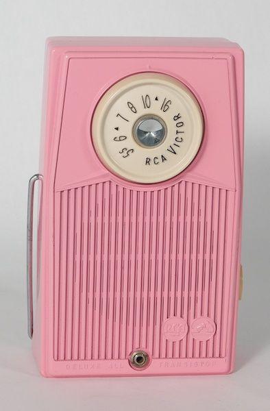 vintage pink radio