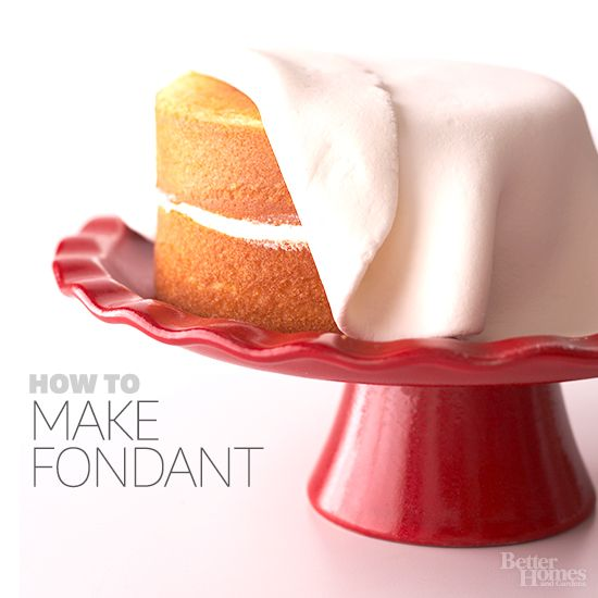 Do you know how to best use fondant? Get the full how-to here: http://www.bhg.com/recipes/how-to/bake/how-to-make-fondant/?socsrc=bhgpin071814howtomakefondant