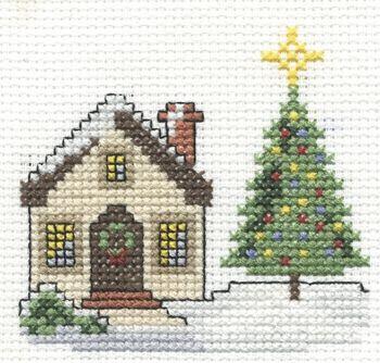 DMC Christmas Scene Free Pattern