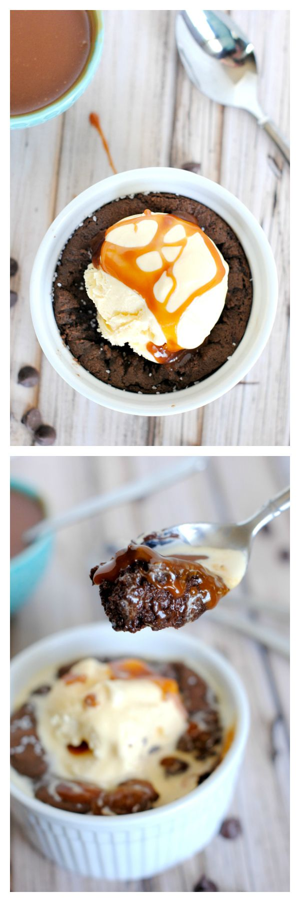 Chocolate Salted Caramel Pizookie-Gooey, Decadent and Amazing!
