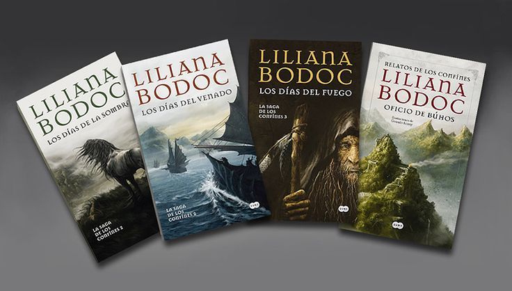 - La Saga de los confines- Liliana Bodoc. Español. Suma de Letras, 2011/2012. Saga of the borderlans. Liliana Bodoc. Spanish. Published by Suma de Letras, 2011/2012.