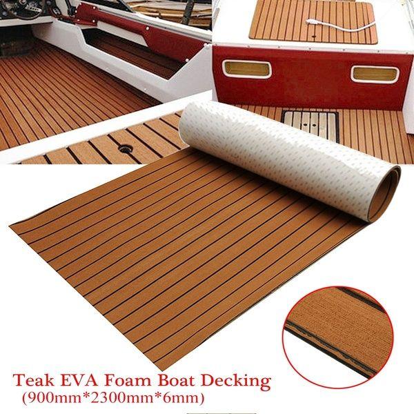 Eva Foam Flooring Teak Decking Sheet Light Brown Grey Marine Boat