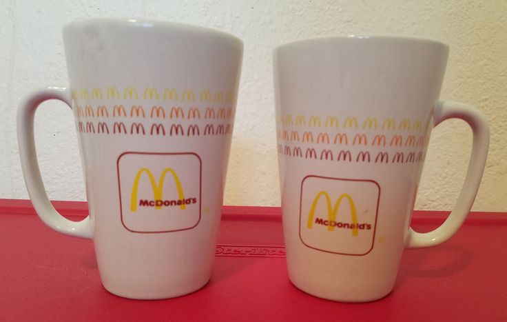 Details about Vintage McDonald's Ceramic Tall Coffee Mug Cup Group II CommunicationsNZ54