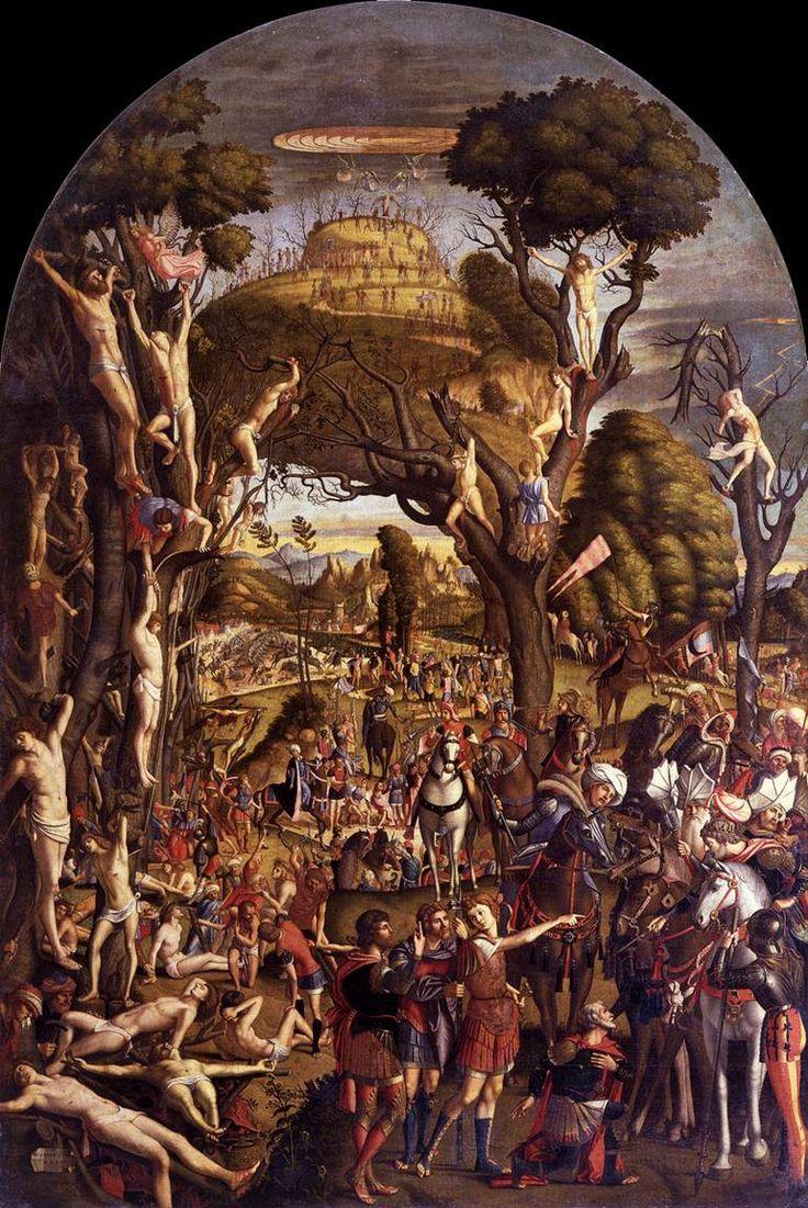 CARPACCIO, Vittore The Ten Thousand Martyrs on the Mount Ararat 1515 Tempera on canvas, 307 x 205 cm Gallerie dell'Accademia, Venice