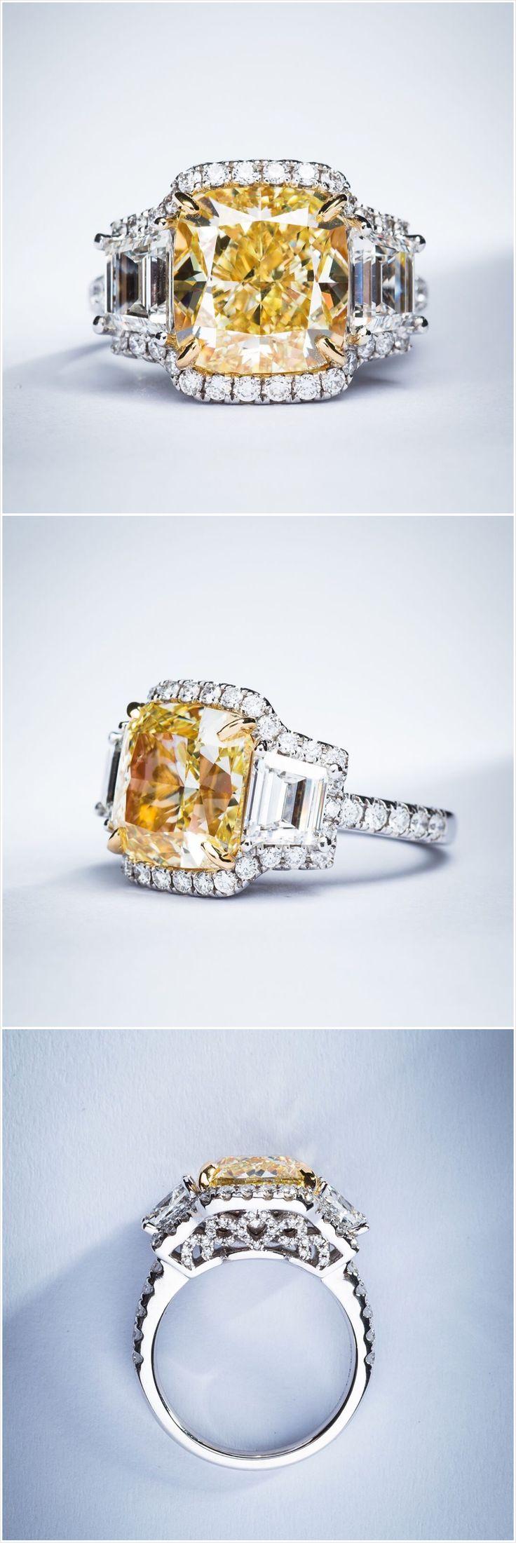 7ct Fancy Yellow VVS1 ring by Edelman Diamond
