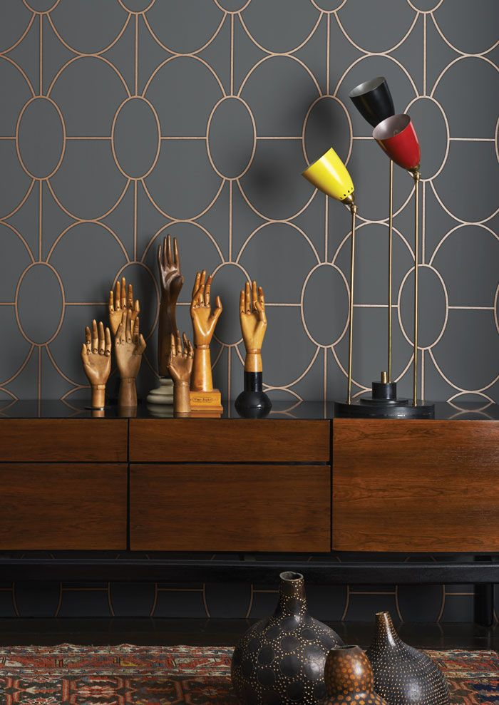 Riviera Wallpaper - Cole & Son - Geometric II Collection - Lime Lace £75.95 #wallpaper #designer #interior #geometric #contemporary #luxury