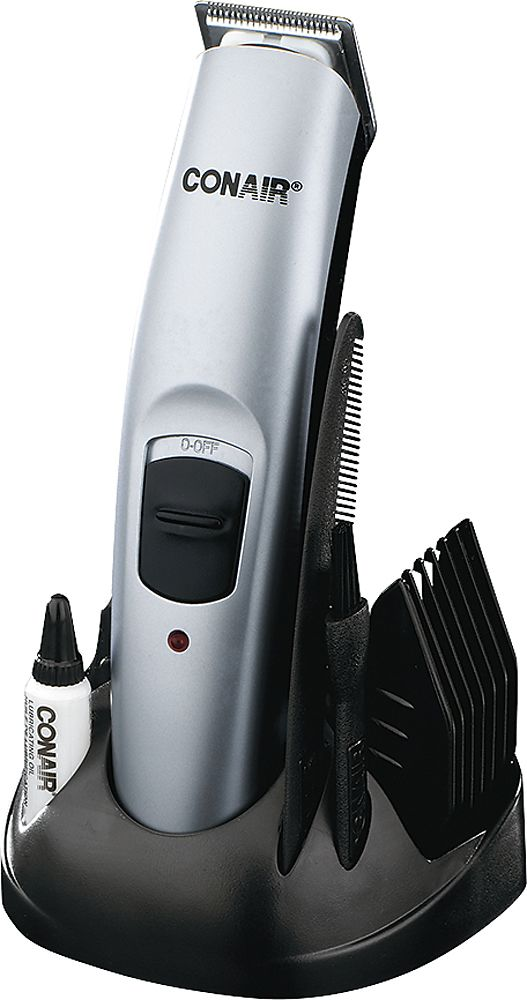 Conair - 13-Piece All-in-One Beard and Mustache Trimmer - Silver