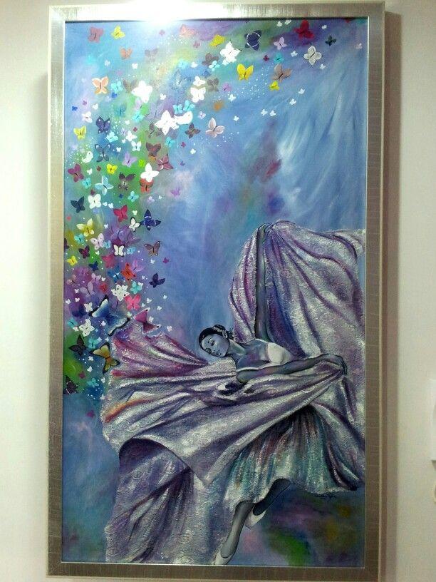 "Dipinto painting  ""Istanti di libertà"" quadro porta"