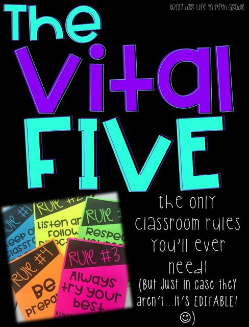 Classroom Rules for Fifth Grade
