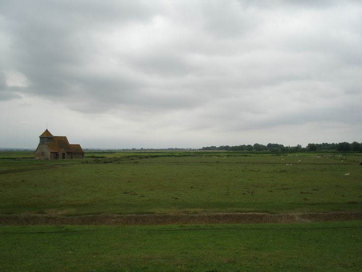 St.Thomas Becket Church, in the lost village of Fairfield, on Romney Marsh. This medieval church was often surrounded by flooded fields, and thus only reachable by boat. The building was reconstructed in 1912.