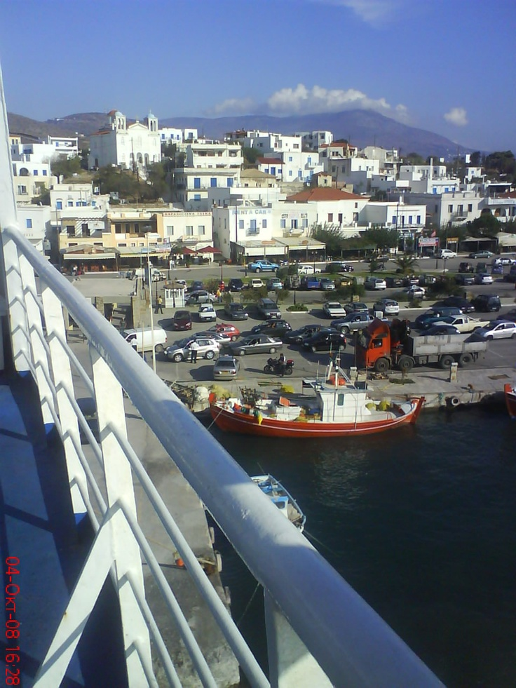 Greece,the port  Gavrio of Andros Island.