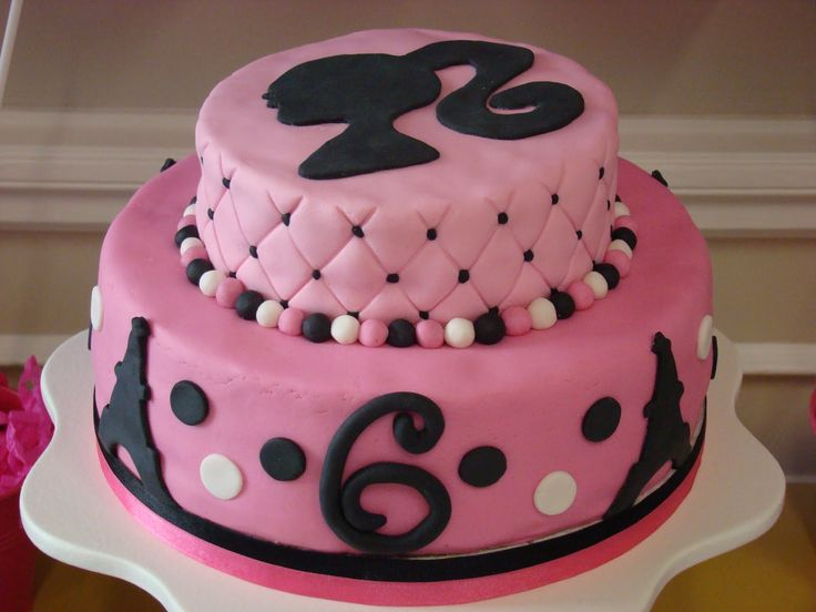 Best Barbie Images On Pinterest Barbie Party Barbie Cake And - Birthday cake doll designs
