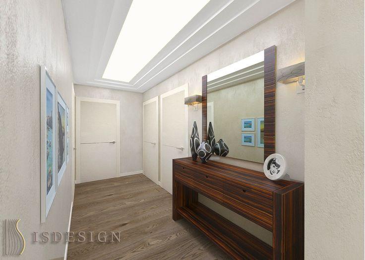 Коридор - Дизайн проект интерьера квартиры 3+kk в Резиденции River watch, Прага, Чехия. Квартира в современном стиле для молодой семьи. Архитектор – дизайнер Инна Войтенко.