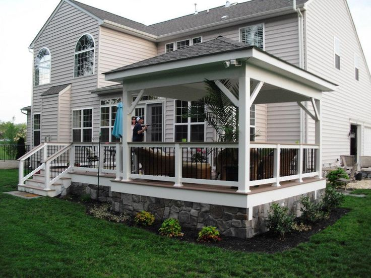 24 best images about decks and gazebos on pinterest deck for Deck with gazebo
